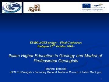 1° Congresso nazionale degli Ordini regionali dei ... - Euro-Ages