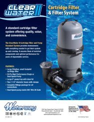 Cartridge Filter & Filter System - Waterway Plastics