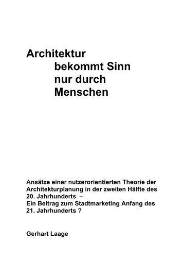 Architektur bekommt Sinn nur durch Menschen - HafenCity ...
