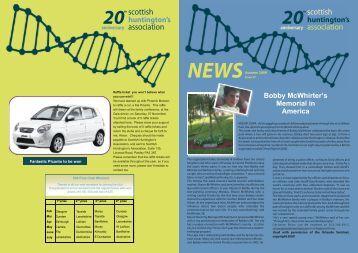 SHA Newsletter - Issue 57 - Scottish Huntington's Association