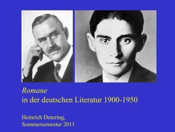 Romane - Heinrich Detering