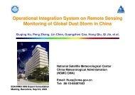 Operational Integration System on Remote Sensing ... - ESA