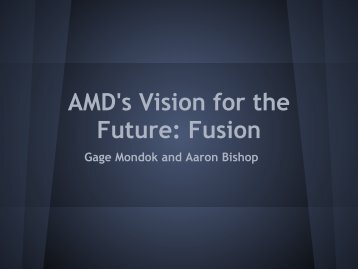 AMD's Vision for the Future: Fusion