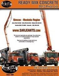 READY MIX CONCRETE - The Sarjeant Co. LTD