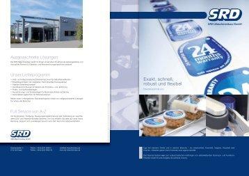 "Prospekt Etikettenspender ""eco"" - SRD Maschinenbau GmbH"
