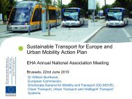 Sustainable Transport for Europe and Urban Mobility Action Plan