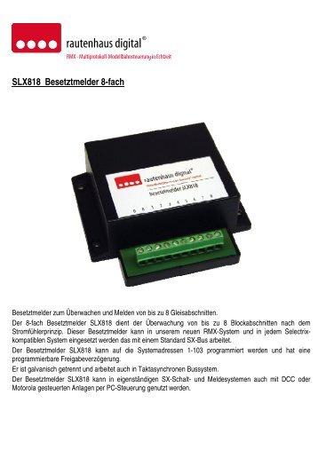 Anleitung zum 8-fach Gleisbesetztmelder mit integrierten ... - MDVR