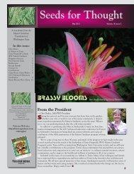 May 2013 - Master Gardener Program - Washington State University