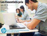 Les Essentiels prix - Hewlett-Packard France - HP