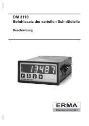 DM 3110 Befehlssatz der seriellen Schnittstelle - ERMA-Electronic