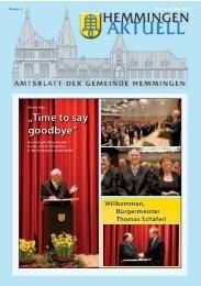 AKTUELL Amtliche Bekanntmachungen - Gemeinde Hemmingen