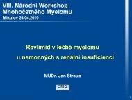 Revlimid v léčbě myelomu u nemocných s renální insuficiencí ... - CMG