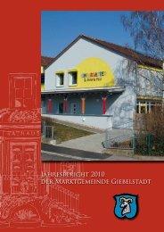 Jahresbericht 2010 der Marktgemeinde ... - Markt Giebelstadt