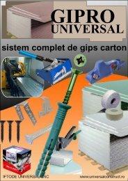 sistem complet de gips carton - Iftode Universal SNC