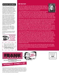 Download the newsletter. - Frank Theatre