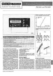 PM 6662 und PM 6669 - Helmut Singer Elektronik