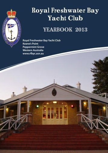 Commodore's Report - Royal Freshwater Bay Yacht Club