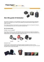 Den lille guide til fototasker - Fotohouse