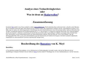 Analyse eines Teslaschwingkreises oder Was ist ... - Göde-Stiftung
