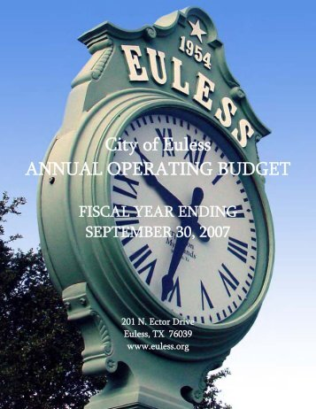 Operating Budget Cover Page.pub - City of Euless