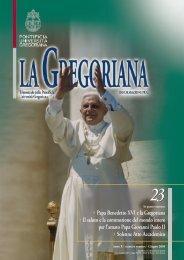 Papa Benedetto XVI e la Gregoriana