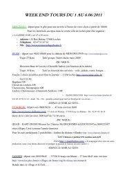 WEEK END TOURS DU 1 AU 6/06/2011 - Notre 350Z