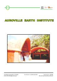 major projects undertaken by the auroville earth institute