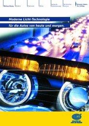 Moderne Licht-Technologie für die Autos von heute und ... - Hella