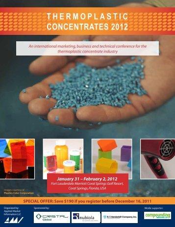 T H E R M O P L A S T I C CONCENTRATES 2012 - AMI Consulting