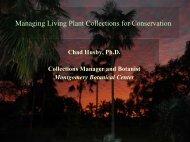 PRESENTATION_Managing Living Plant Colls for ...
