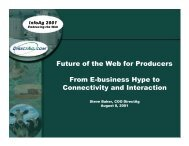 Future of the Web for Producers From E-business Hype to ...