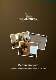 brief meeting summary - EarlyNutrition