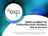 REMPLACEMENT DE CONDUITES D'EAU ... - Ville de Bromont