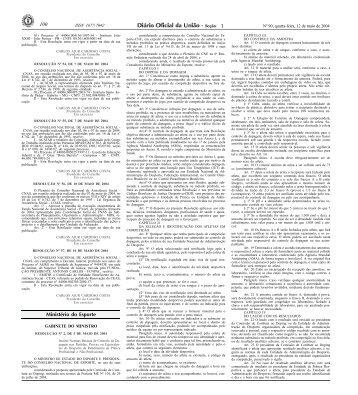 resolução nº 2 - Ministério do Esporte