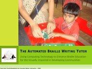 The Automated Braille Writing Tutor: Using ... - TechBridgeWorld