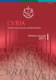 Relazione annuale 2011 - curia - Europa