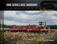 1000 SerieS DiSc HarrowS - Sunflower Manufacturing