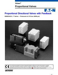 Proportional Directional Valves with Feedback Proportional ... - Vickers