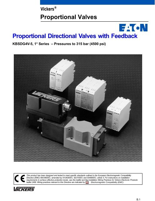Proportional Directional Valves with Feedback Proportional ... on vickers hydraulic control valve parts, vickers vane pump diagram, cross hydraulic valve diagram,