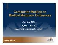 Community Meeting Presentation July 20, 2010 - City of San Jose