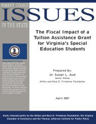View this Study - Thomas Jefferson Institute for Public Policy