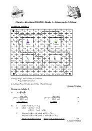 Page 1 Chemie – die stimmt 2010/2011 Runde 1 – Lösungen der 9 ...