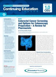 Colorectal Cancer Screening and Options for Colonoscopy ...