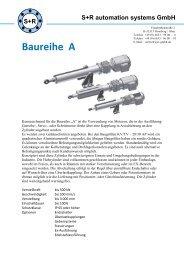 Datenblatt Baureihe A - S+R automation systems GmbH