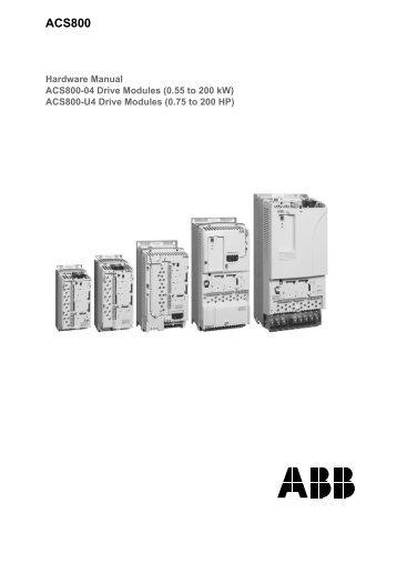 en/ACS800-04/U4 Hardware Manuals - VAE ProSys sro