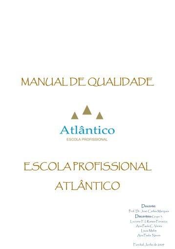 manual de qualidade escola profissional atlântico - Universidade da ...