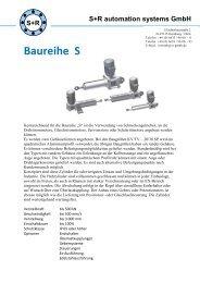 Datenblaetter Baureihe S - S+R automation systems GmbH