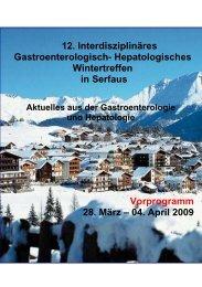 04. April 2009 - Gastroenterologie Wintertreffen