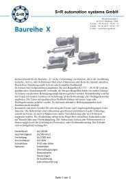 Datenblatt Baureihe X - S+R automation systems GmbH