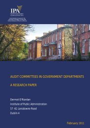 AUDIT COMMITTEES IN GOVERNMENT DEPARTMENTS A ... - IPA